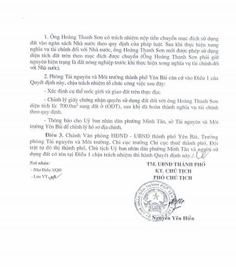 Chieu ngay 11/8, se cong bo ket luan thanh tra ve vu biet phu cua Giam doc So TNMT Yen Bai - Anh 10