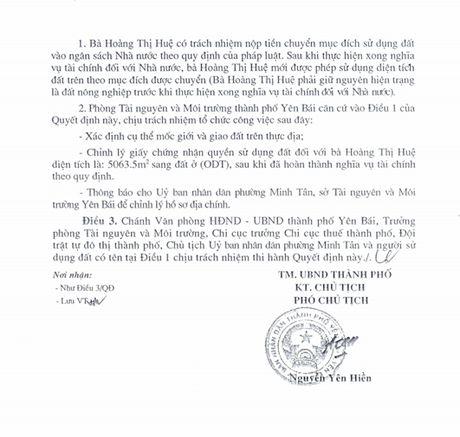 Chieu ngay 11/8, se cong bo ket luan thanh tra ve vu biet phu cua Giam doc So TNMT Yen Bai - Anh 5