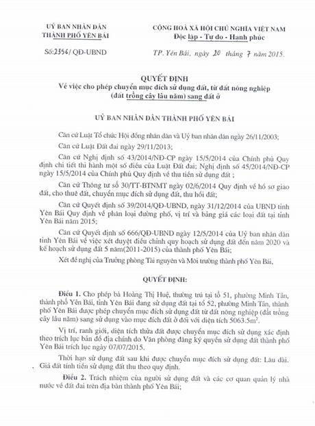 Chieu ngay 11/8, se cong bo ket luan thanh tra ve vu biet phu cua Giam doc So TNMT Yen Bai - Anh 6