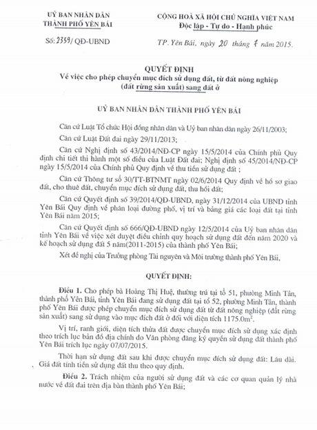 Chieu ngay 11/8, se cong bo ket luan thanh tra ve vu biet phu cua Giam doc So TNMT Yen Bai - Anh 7