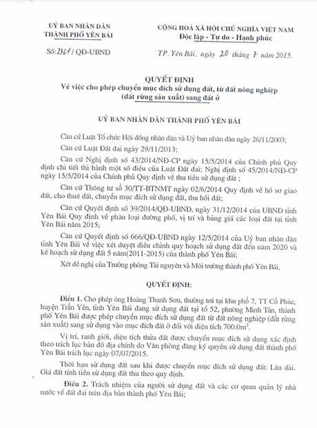 Chieu ngay 11/8, se cong bo ket luan thanh tra ve vu biet phu cua Giam doc So TNMT Yen Bai - Anh 9