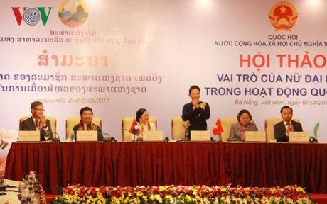 Viet-Lao thao luan ve vai tro nu dai bieu trong hoat dong Quoc hoi - Anh 2