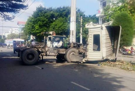 Xe container gay tai nan nghiem trong trong KCN Tan Binh - Anh 2