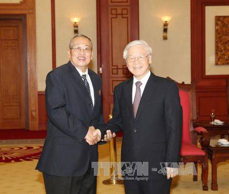 Tong Bi thu tiep Doan Uy ban Kiem tra Trung uong Dang Nhan dan Campuchia - Anh 1