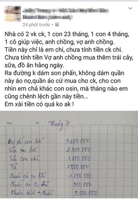 """Bang chi tieu cua gia dinh """"tinh so"""" het hon 40 trieu/thang, rieng tien an het 9 trieu gay sot - Anh 1"""