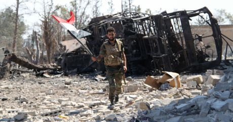 Mo tran chien lon, quan doi Syria giai phong them lanh tho khoi IS - Anh 1