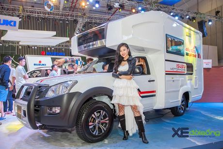 Nha di dong Isuzu MotorHome, ung dung vo bien cua pickup D-MAX - Anh 4
