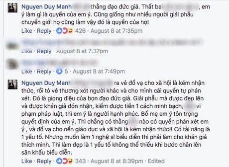 Duy Manh gay gat phan bac quan diem cua MC Phan Anh ve viec Duc Phuc tham my - Anh 2