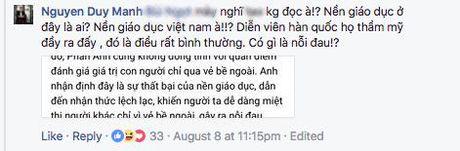 Duy Manh gay gat phan bac quan diem cua MC Phan Anh ve viec Duc Phuc tham my - Anh 3