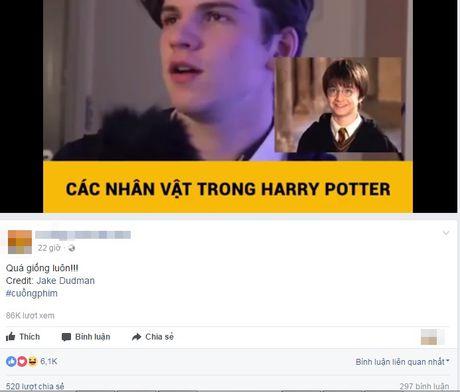 Chi em 'phat sot' voi trai dep gia giong Harry Potter sieu chuan - Anh 2