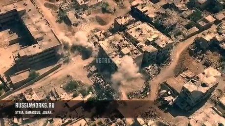Phao binh, ten lua Syria huy diet phien quan o Jobar, Dong Ghouta - Anh 1