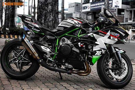 Sieu moto Kawasaki H2 gia hon 1 ty, do khung tai Sai Gon - Anh 2