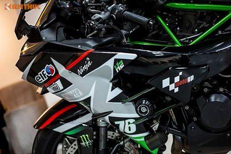 Sieu moto Kawasaki H2 gia hon 1 ty, do khung tai Sai Gon - Anh 5