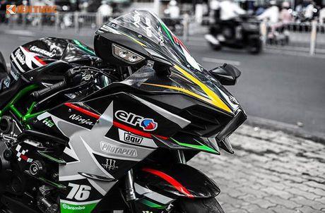 Sieu moto Kawasaki H2 gia hon 1 ty, do khung tai Sai Gon - Anh 6