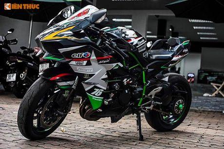 Sieu moto Kawasaki H2 gia hon 1 ty, do khung tai Sai Gon - Anh 8