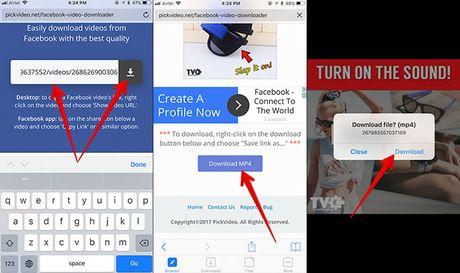 Lam the nao de tai video hay tren Facebook bang iPhone - Anh 4