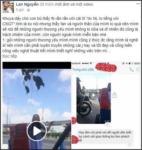 Thuc hu chuyen dien vien Ngoc Lan tuc gian to tieng voi canh sat giao thong - Anh 3