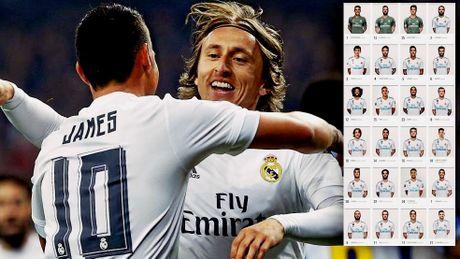 Real chot so ao mua giai 2017/2018: Modric 'chiem' ao so 10 cua James - Anh 1