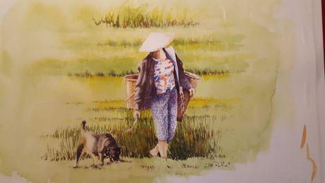Hoa si Phap trien lam tranh ve Viet Nam tai bao tang que nha - Anh 18