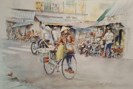 Hoa si Phap trien lam tranh ve Viet Nam tai bao tang que nha - Anh 19
