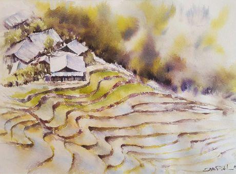 Hoa si Phap trien lam tranh ve Viet Nam tai bao tang que nha - Anh 8