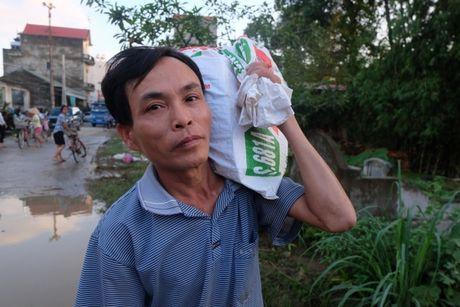 Nuoc lu dang cao nhan chim nha dan, nguoi Ha Noi len giuong ngoi an com - Anh 2