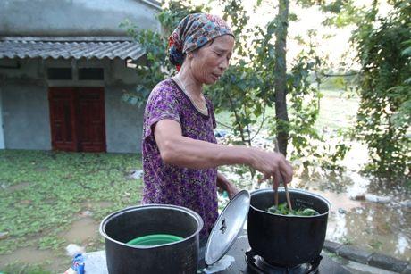 Nuoc lu dang cao nhan chim nha dan, nguoi Ha Noi len giuong ngoi an com - Anh 5