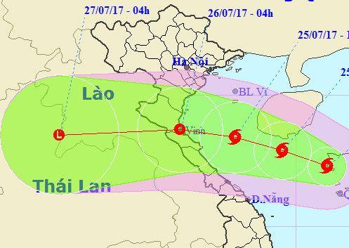 Bão số 4 hướng vào Thanh Hóa - Quảng Bình