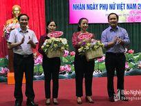Báo Nghệ An gặp mặt nhân ngày Ngày Phụ nữ Việt Nam