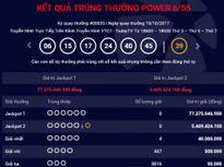Kết quả xổ số Vietlott Power 6/55 ngày 19/10: Không ai khuân giải thưởng trị giá 77 tỷ đồng