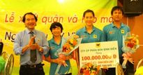200 triệu đồng tiền thưởng cho đội bóng chuyền trẻ Long An