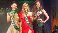 Hà Thu đạt giải đồng Trang phục dạ hội tại Hoa hậu Trái đất 2017