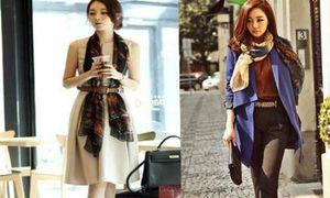 9 cách thắt khăn đẹp và phong cách cho ngày thu