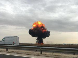 Máy bay chiến đấu nổ như bom gần Madrid, phi công thiệt mạng