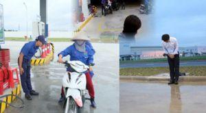 Vắng Tổng giám đốc Hiroaki Honjo, nhân viên trạm xăng IQ8 trở về phong cách Việt?