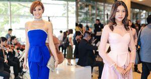 Phương Mai vai trần gợi cảm, Thuý Vân diện váy hồng như công chúa tại sự kiện