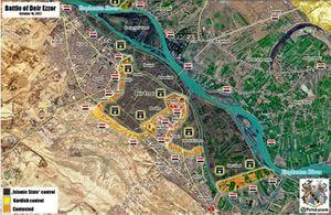 Quân Syria tấn công dữ dội, IS tháo chạy khỏi 5 thị trấn ở Deir Ezzor