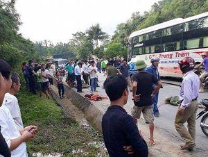 2 phụ nữ bị xe khách cán chết thương tâm ở Nghệ An