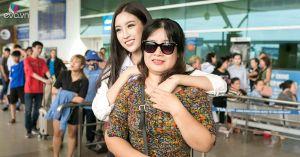 Đưa con gái đến tận cửa Hải Quan, mẹ Đỗ Mỹ Linh vẫn tỏ ra lo lắng rất nhiều