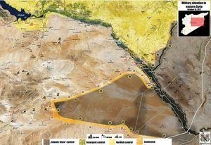 Quân đội Syria xốc tới càn quét IS bờ đông Euphrates, ngăn người Kurd chiếm đất