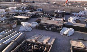 Tịch thu kho vũ khí 'khủng' của IS ở Mayadin