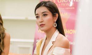 Huyền My nói tiếng Anh lưu loát tại vòng phỏng vấn với ban giám khảo Miss Grand