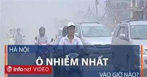 Hà Nội ô nhiễm nhất vào giờ nào?