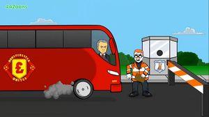 Hoạt hình vui xe buýt của Mourinho đè bẹp Huddersfield