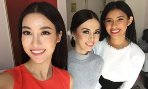 Hoa hậu Mỹ Linh hội ngộ dàn thí sinh Miss World 2017