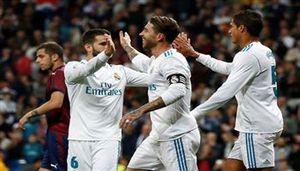 Kết quả bóng đá 23/10: Thắng đậm Eibar, Real tiếp tục bám đuổi Barca