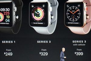 Apple ra mắt Watch Series 3 tích hợp 4G, giá 9 triệu đồng