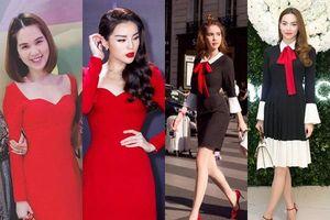 Ngọc Trinh và những lần mặc váy tự tay thiết kế nhưng lại na ná của người khác