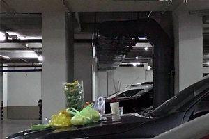 Hoảng hốt vì người dân vô tư đốt nhang, cúng xe ở hầm chung cư