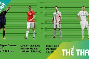 Ronaldo chỉ xếp thứ 9 về chiều cao tại World Cup 2018